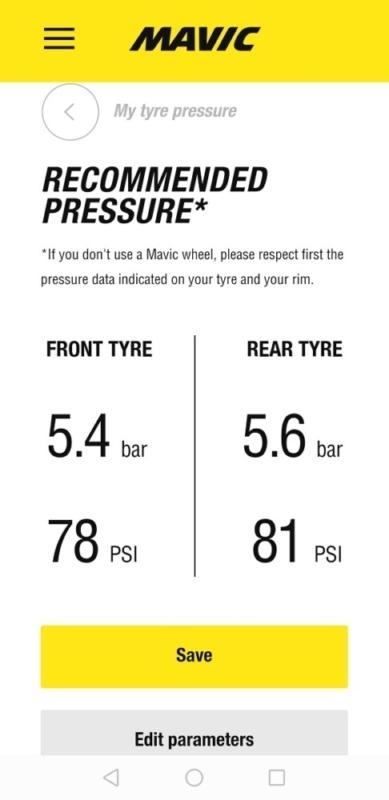 チューブレスタイヤの空気圧