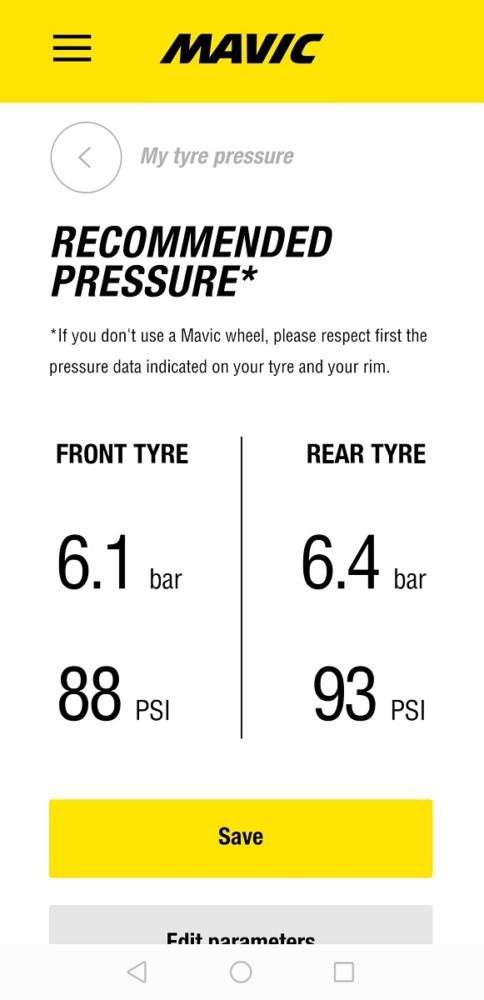 クリンチャータイヤの空気圧
