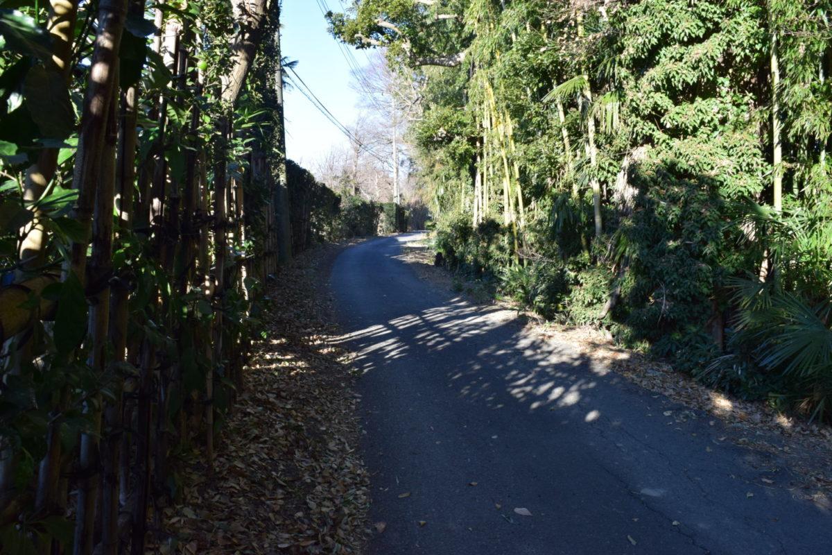 農家の集落の小道