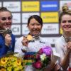 梶原悠未が世界選オムニアムで金メダル エリートで日本勢33年ぶりのアルカンシエル獲